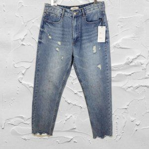 Forever 21 Denim Collection High Rise Straight Leg